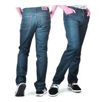 Celana Jeans Pria / Celana Panjang Biru Tua - ALX 718