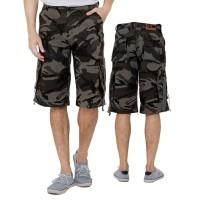 Celana Pendek Kasual Pria Loreng Keren- ISC 303