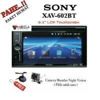 Paket Sony XAV-602BT Tape Double Din Head Unit Audio + Camera HD CCD