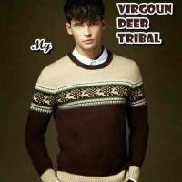 Jual Virgoun Deer Tribal Pakaian Baju Sweater Rajut Korea Pria Murah