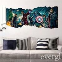 Marvel Avengers 3D Wallpaper Wall Sticker Poster 3D 3Dimensi Promo