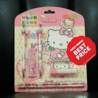 (BEST PRICE) Study Set Hello Kitty PS-688 Pensil Pen Penghapus Notes