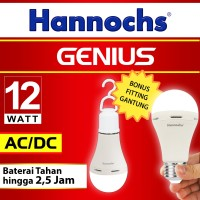Lampu LED Hannochs Genius 12W (emergency light) - BUKAN PHILIPS