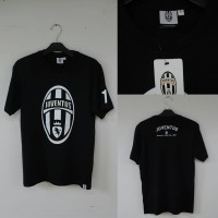 Kaos Juventus Official Merchandise Shirts True Black With Number #1