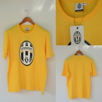Kaos Juventus Official Merchandise Shirts Yellow With Print Original