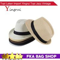 Jual FKA Topi Laken Import Yingrui Topi Jazz Vintage  Murah