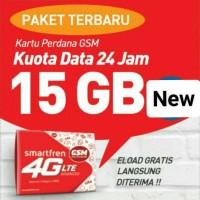 Jual kartu perdana Smartfren 15GB 4G 24jam Murah