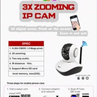 EasyN 10D Wireless Wifi IP Camera, P2P, Plug and View CCTV Baby