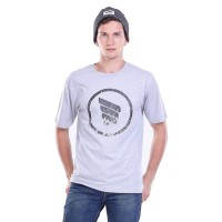 Jual Kaos Distro Pria Light Grey Cotton / T-shirt Male Scratch - H0161 Murah
