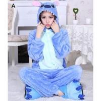 kostum onesie cosplay pajama Stitch