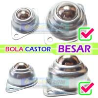 BESAR - Bola Castor Metal Ball Caster Logam Rak Lemari Kaki Robot Gila