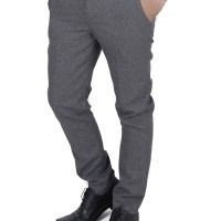 Jual Celana Bahan Formal Pria Slimfit Wool Abu Muda (size 29 - 34) Murah