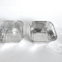 Ox-100 Alumunium Tray Foil Aluminium Tempat Kue Dengan Penutup Mika