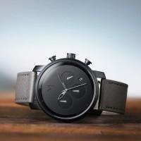 Jam Tangan MVMT Chrono 40mm Black Sage Leather Original   Jam Pria