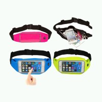 Waist Bag for Handphone Android for Samsung Note2 (N700) - Biru Muda