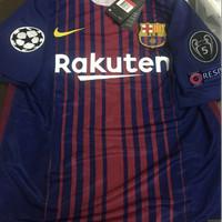Jersey Baju Barca Barcelona Home 17/18 Grade Ori Futsal FULL PATCH UCL