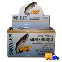 Jual Squalen Kapsul Minyak Hati Ikan Salmon Fish Liver Oil Squalene Omega 3 Murah