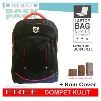 Jual Tas Ransel Laptop GRATIS Dompet // backpack daypack kerja polo Murah