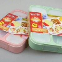 Lunch Box Kotak Makan Sekat 4 Grid Anti Bocor Yooyee 578