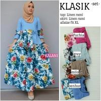 Setelan Blouse dan Long Skirt Rok Maxi Wanita KLASIK SET