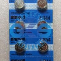 Jual Maxell LR44 Baterai Battery Alkaline Button Cell Jam Laser Senter 1.5V Murah