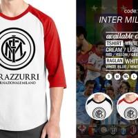Raglan Inter Milan 01 - Tshirt Bola - Baju Kaos Oblong Distro Rivrez