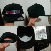 Topi RVCA Fresh Cut Black Snapback Original