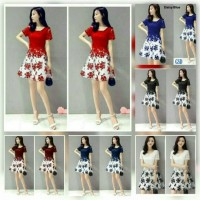GAUN PESTA NATAL / MINI DRESS BROKAT / DRESS KEKINIAN / DRESS REMAJA