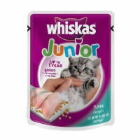 WHISKAS JUNIOR TUNA 85 G WET CAT FOOD MAKANAN KUCING BASAH