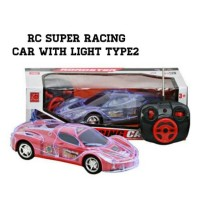 mainan mobil remot Rc super racing car with light type2