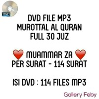 DVD MUROTTAL AL-QURAN MP3 MUAMMAR ZA FULL 30 JUZ MUROTAL CD MURAH