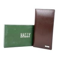Dompet panjang pria kulit asli murah - BALLY SNM-3 COFFEE