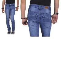 Celana Panjang Denim Blue Kasual Pria - BE 058