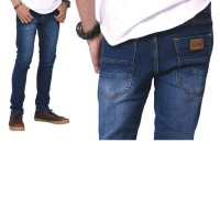 Celana Panjang Denim Blue Kasual Pria - BE 045