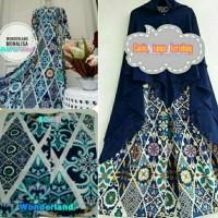 Gamis Syari Monalisa Wonderland Saten / Busana Muslim  Syari deanara