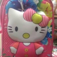 Jual tas sekolah 3d ransel backpack hello kitty Murah