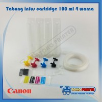 Tabung Infus / Modif Transfaran Printer Canon Plus Tinta 4 warna 100ml