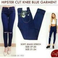 NEW PRODUK Celana jeans wanita blue garment sobek lutut (cut knee)
