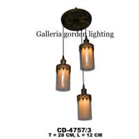 lampu gantung dekorasi ruang meja makan -ruang tamu minimalis 4757/3