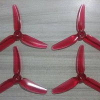 HQ Durable Propellers Set 4x4.3x3 Light Red