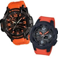 Casio Gshock Couple GA-1000-4A & Baby'G BGA-230-4B original