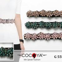 Ban ikat pinggang wanita premium import obi manik manik bead fashion