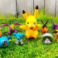 Jual Action Figure Pikachu Set Isi 9 Pcs Murah