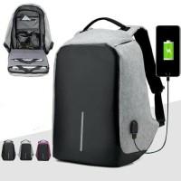 Jual Tas Ransel Anti Maling USB Port Charger / Laptop / Backpack Murah