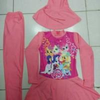 Baju Renang Muslim Anak SD Gambar/ little Pony /size-M-L-XL