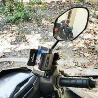 Jual HOLDER HP MOTOR JEPIT SPION UNIVERSAL STAND MURAH SURABAYA MURAH Murah