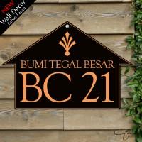 Jual WDD003 NOMOR RUMAH - home wall decor hiasan dinding poster| HOUSE SIGN Murah