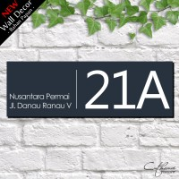 Jual WDD004 NOMOR RUMAH - home wall decor hiasan dinding poster| HOUSE SIGN Murah