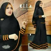 Pakaian Wanita Hijab Muslim Baju Syari Bergo Syfarose Black