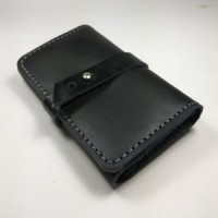 Jual dompet kartu atm kartu nama sim stnk kulit asli warna hitam model tali Murah